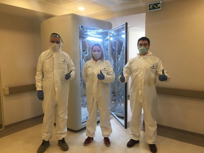 Virüsü öldüren dezenfeksiyon kabini